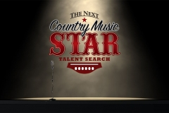 Talent star logo with mic